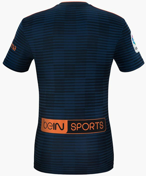 Back of Valencia Away Shirt 18 19