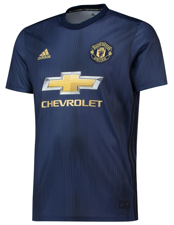 Blue Manchester United Jersey 2018 2019