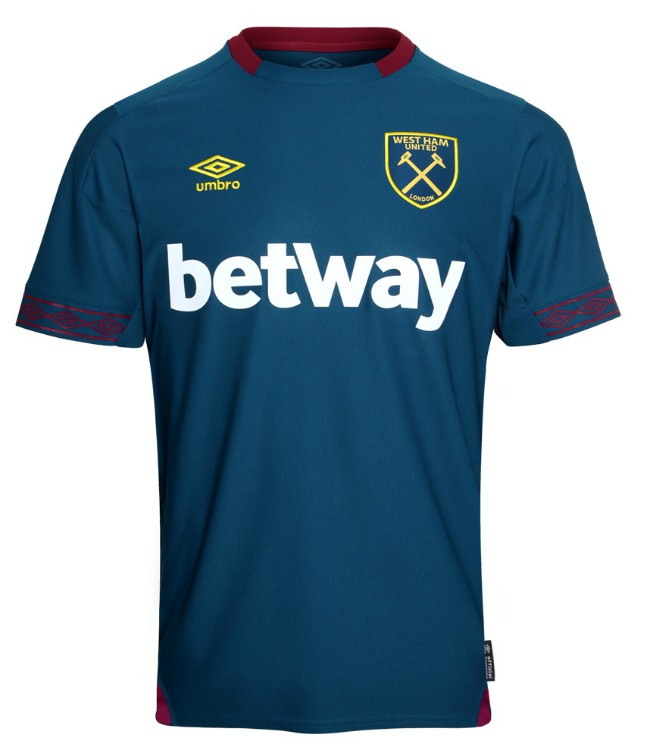 Blue West Ham Shirt 2018 19 Teal