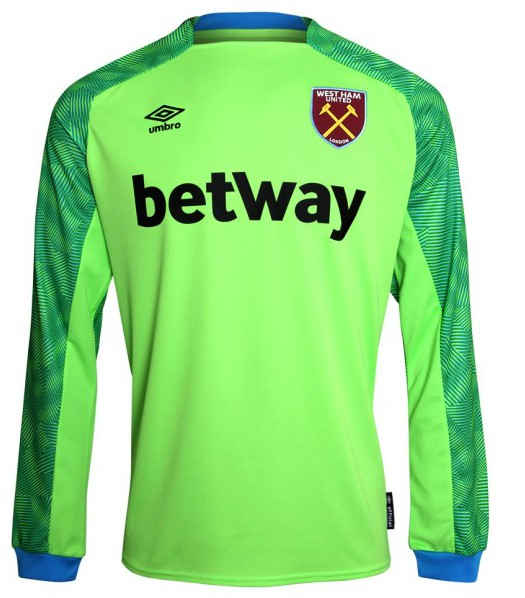 Green West Ham Goalkeeper Away Shirt 2018 2019