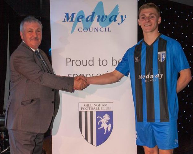 Medway Council Gillingham New Shirt 2018 19 Sponsor