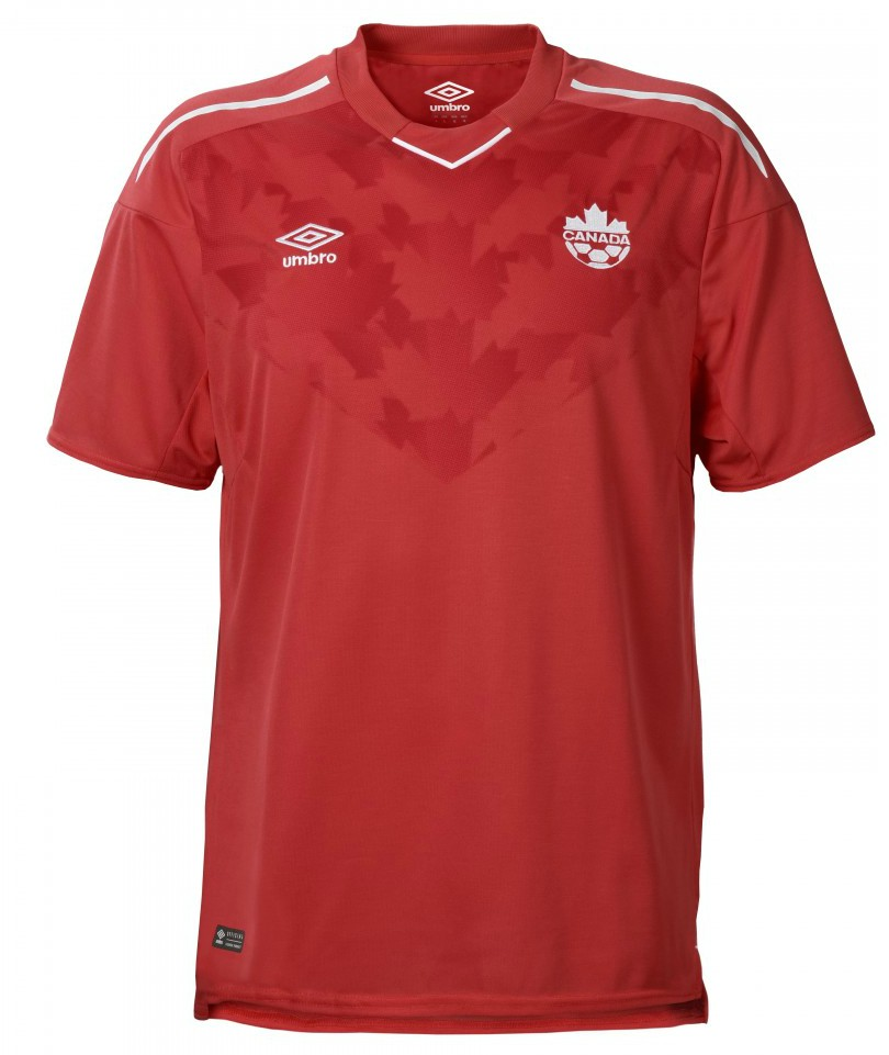 New canada soccer jersey 2018 2019 umbro canada home kit for Canadian kit homes