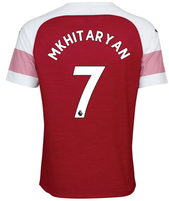 Premier League Font Arsenal Shirt 18-19