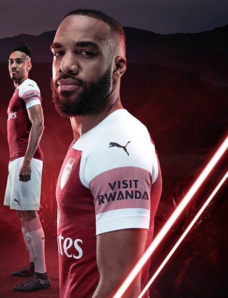 101796d4e40 New Arsenal Sleeve Sponsorship Deal | Visit Rwanda to appear on AFC kits