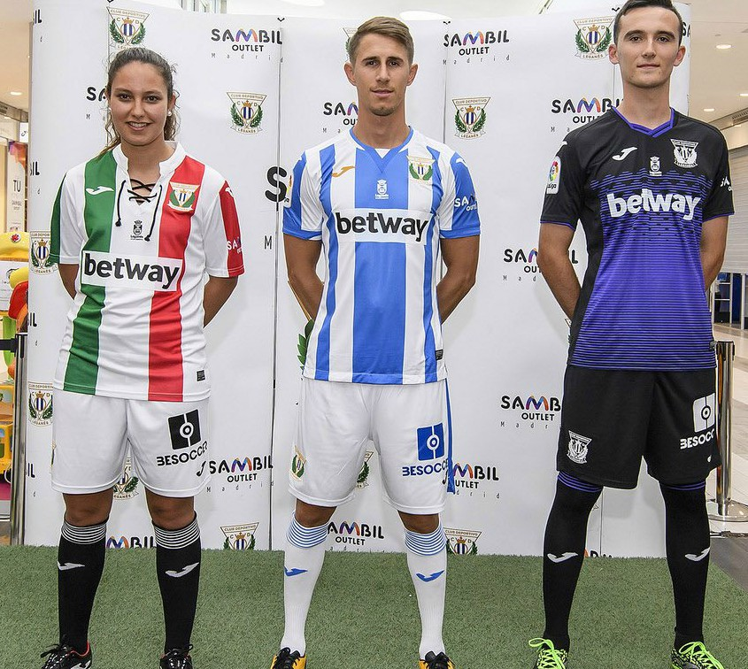 CD Leganes Joma Jersey 2018-2019
