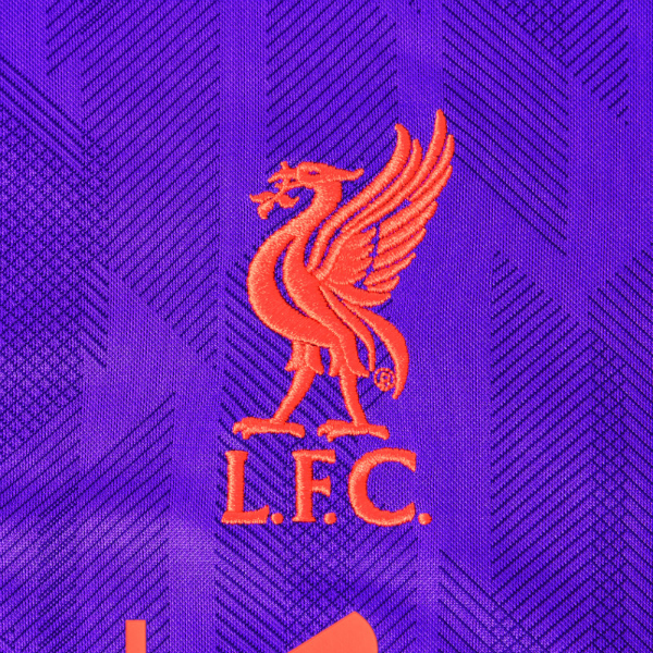 Closeup of LFC away shirt 18-19