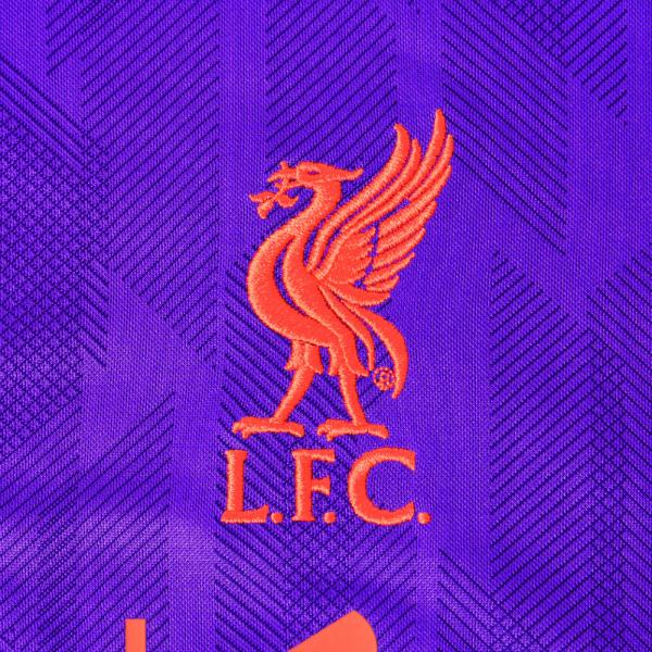 Closeup of LFC away shirt 18-19
