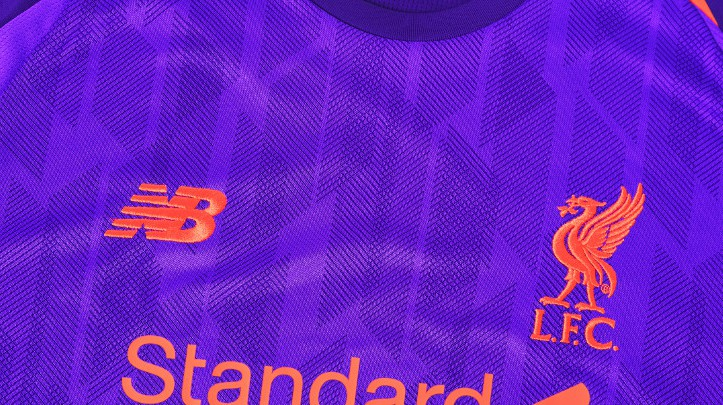 Closeup of Liverpool Away Kit 18-19