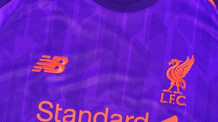 Closeup of Liverpool Away Kit 18-19