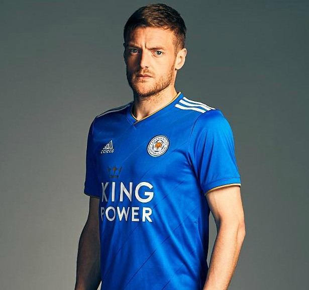Vardy in new Leicester Kit 18-19