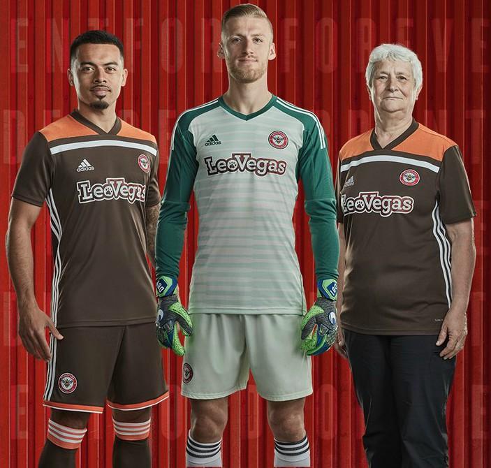 New Adidas Brentford FC Away Kit 2018-2019 | Brown