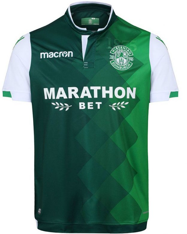 f5b1646e0 New Hibs Strip 2018-2019 | Macron Hibernian FC Home & Away Kits 18 ...