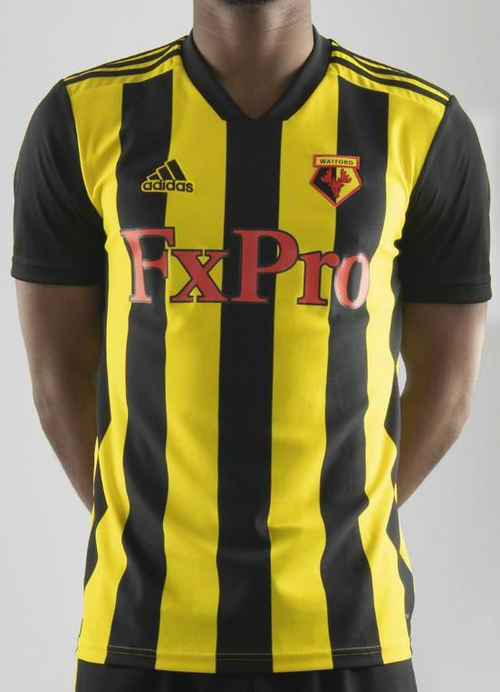 descuento especial original mejor calificado tienda del reino unido New Watford FC Kit 2018-2019 | Stripes on new Adidas home shirt ...