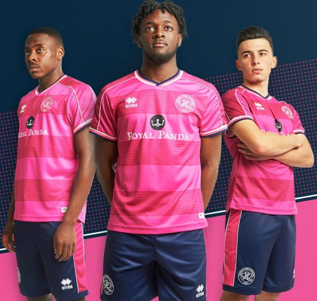 Pink QPR Shirt Away 18-19
