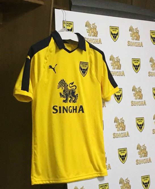 Singha Beer Oxford United Shirt Sponsor 2018-2019