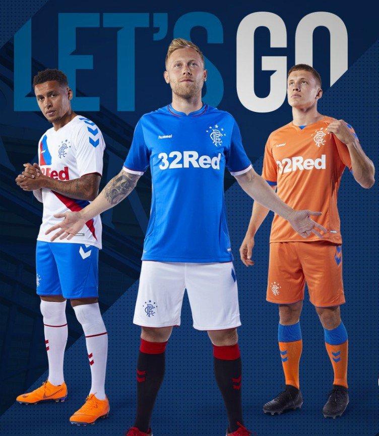 new concept 961e3 22b8a New Hummel Rangers FC Tops 2018-2019 | Gers to wear orange ...