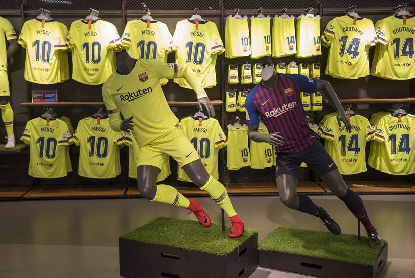 Yellow Barcelona Away Kit 18-19