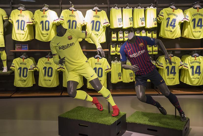 Yellow Barcelona Away Kit 18-19