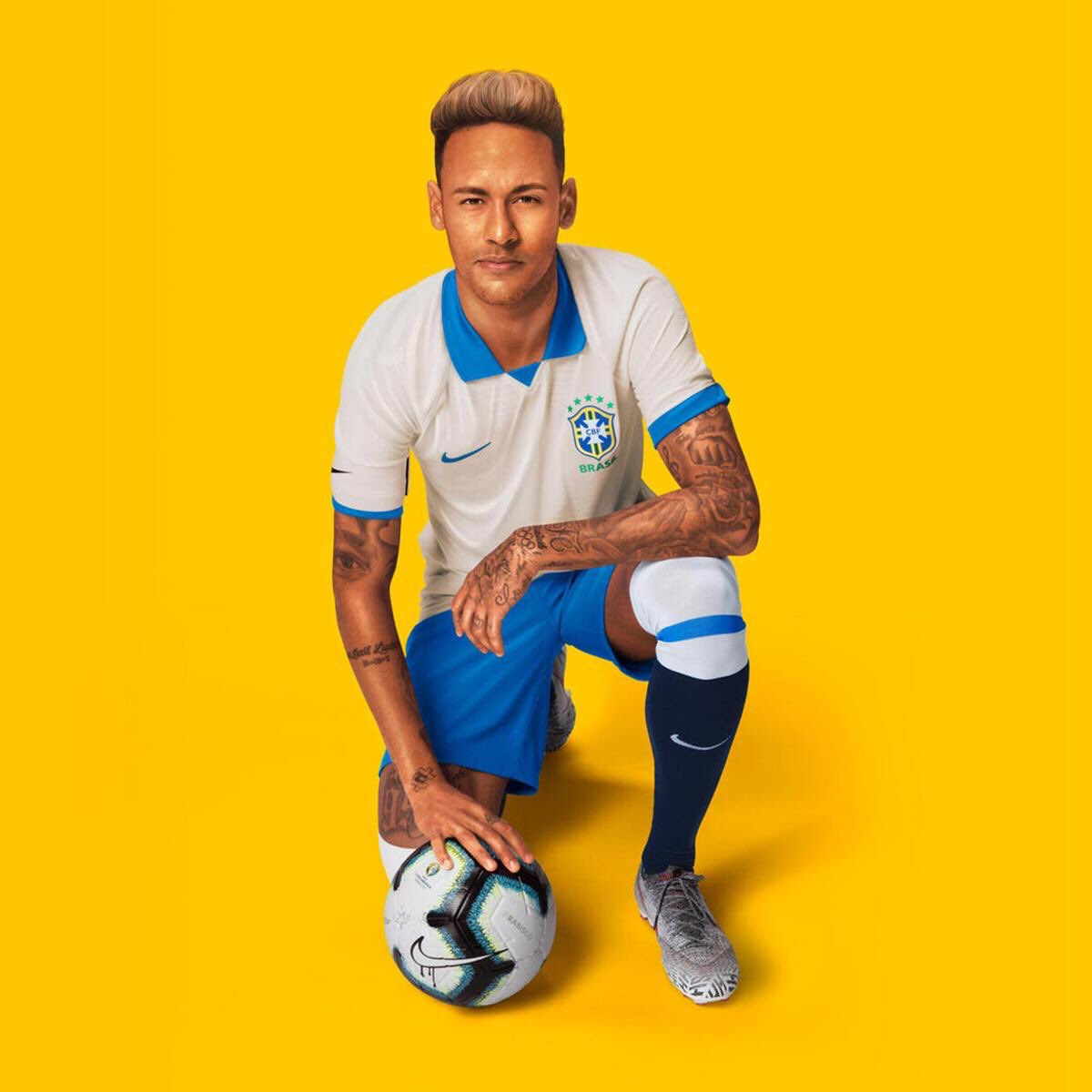 White Brazil Away Kit 2019 Copa America
