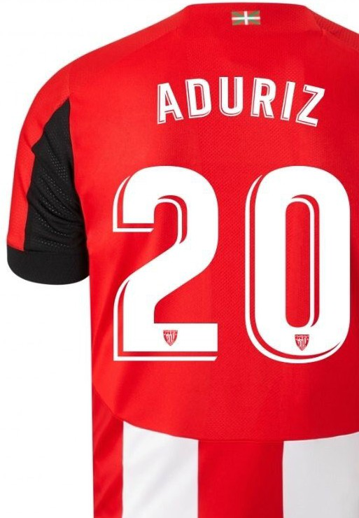 Back of Athletic Bilbao Home Shirt 19-20