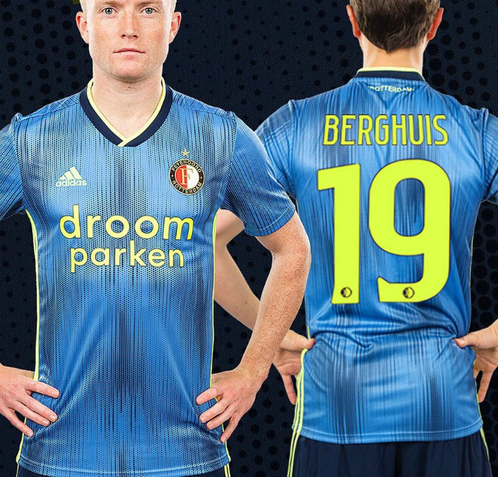 Back of Feyenoord Away Shirt 19-20