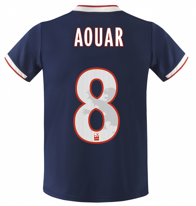 Back of Lyon Away Shirt 19-20