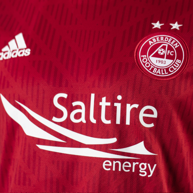Close up of new Aberdeen Shirt 19-20
