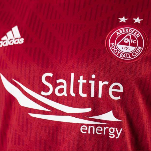 Close up of new Aberdeen Shirt 19-20