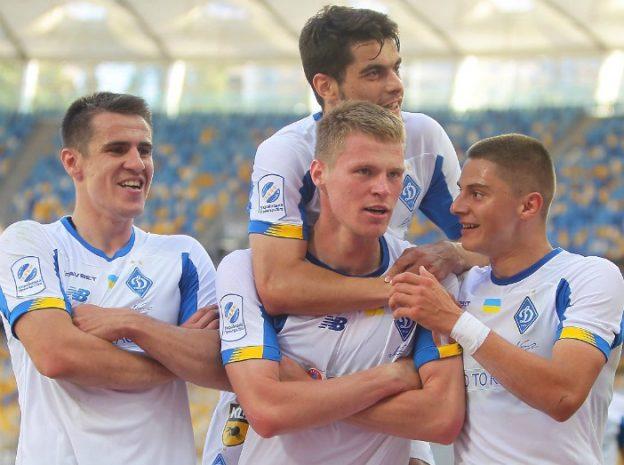 Closeup of Dynamo Kyiv Shirt 19-20