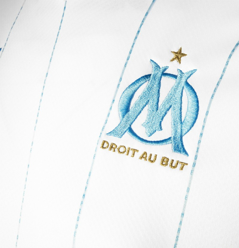 Closeup of New Marseille Jersey 2019-2020