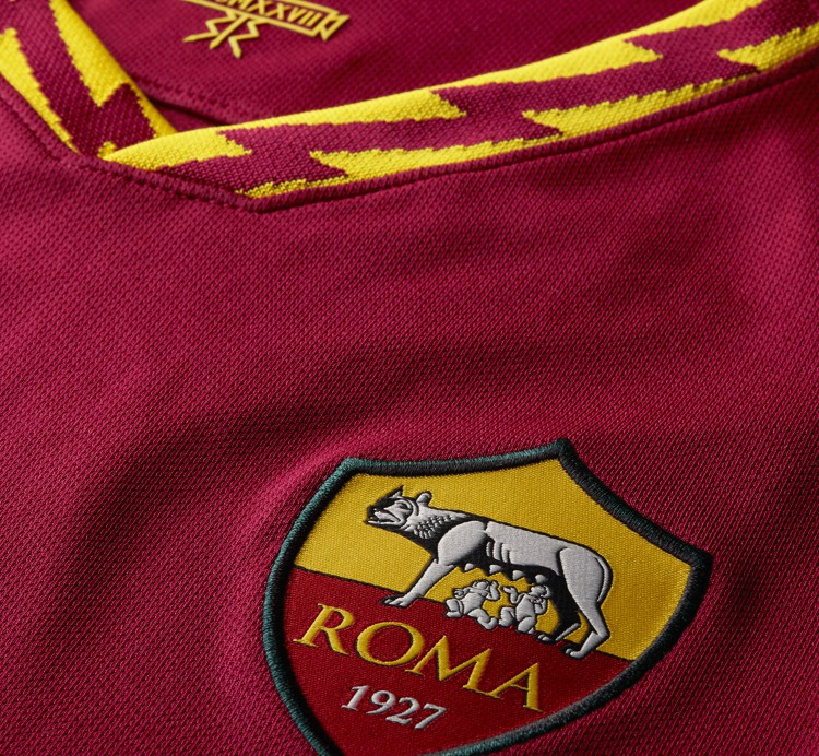 Closeup of Roma Shirt 19-20
