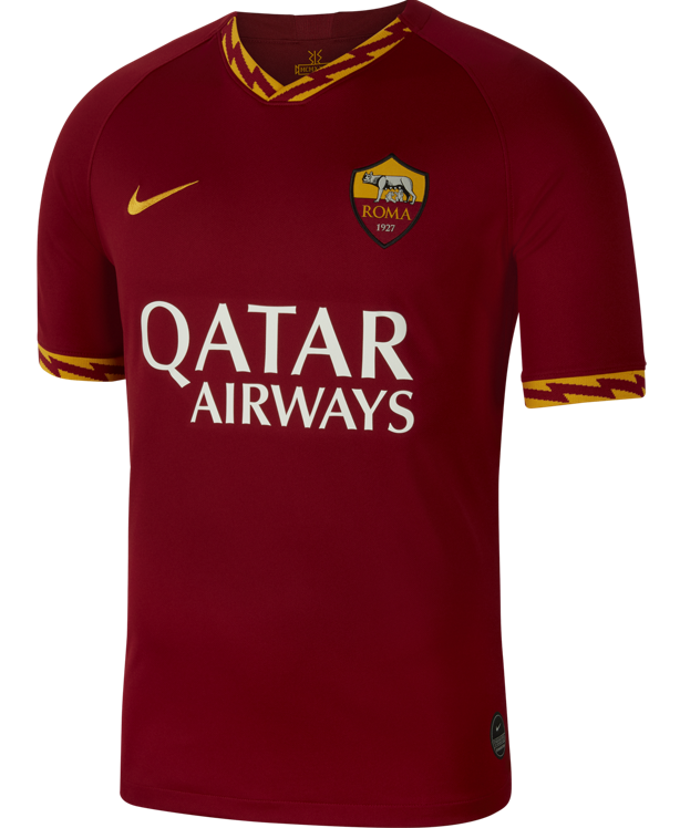 New As Roma Jersey 2019 2020 Nike Unveil Home Kit With Lightning Bolt Design Football Kit News