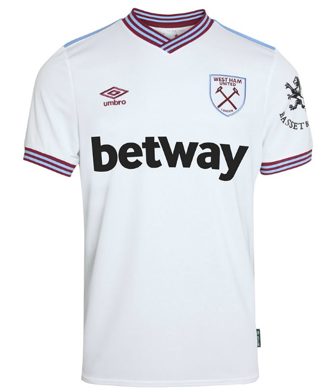 West Ham White Away Shirt 19-20