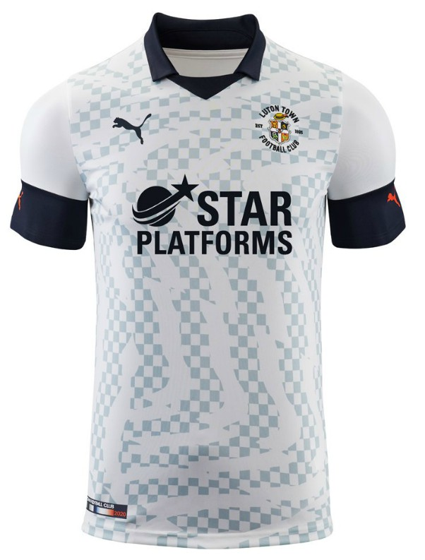 White Luton Town Shirt 19-20