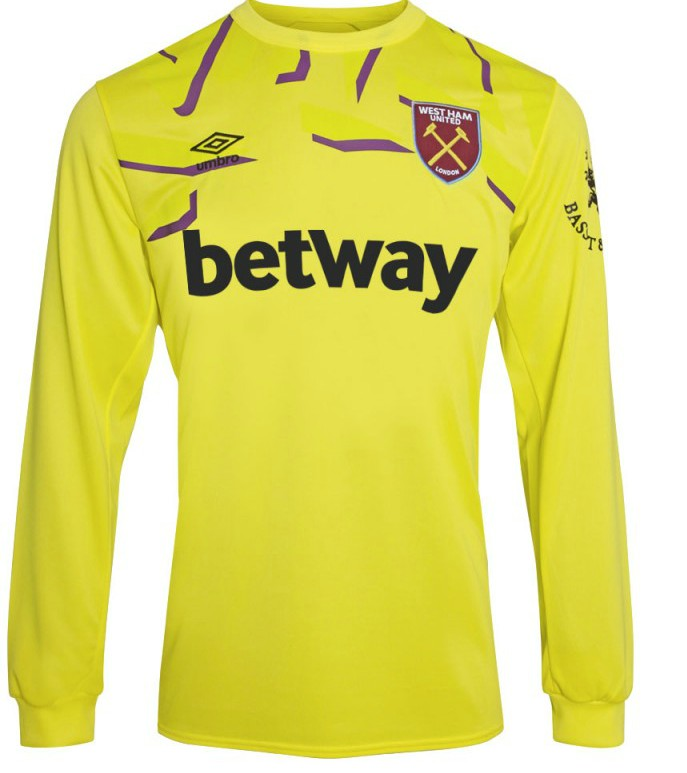 Yellow West Ham Goalkeeper Kit 19-20
