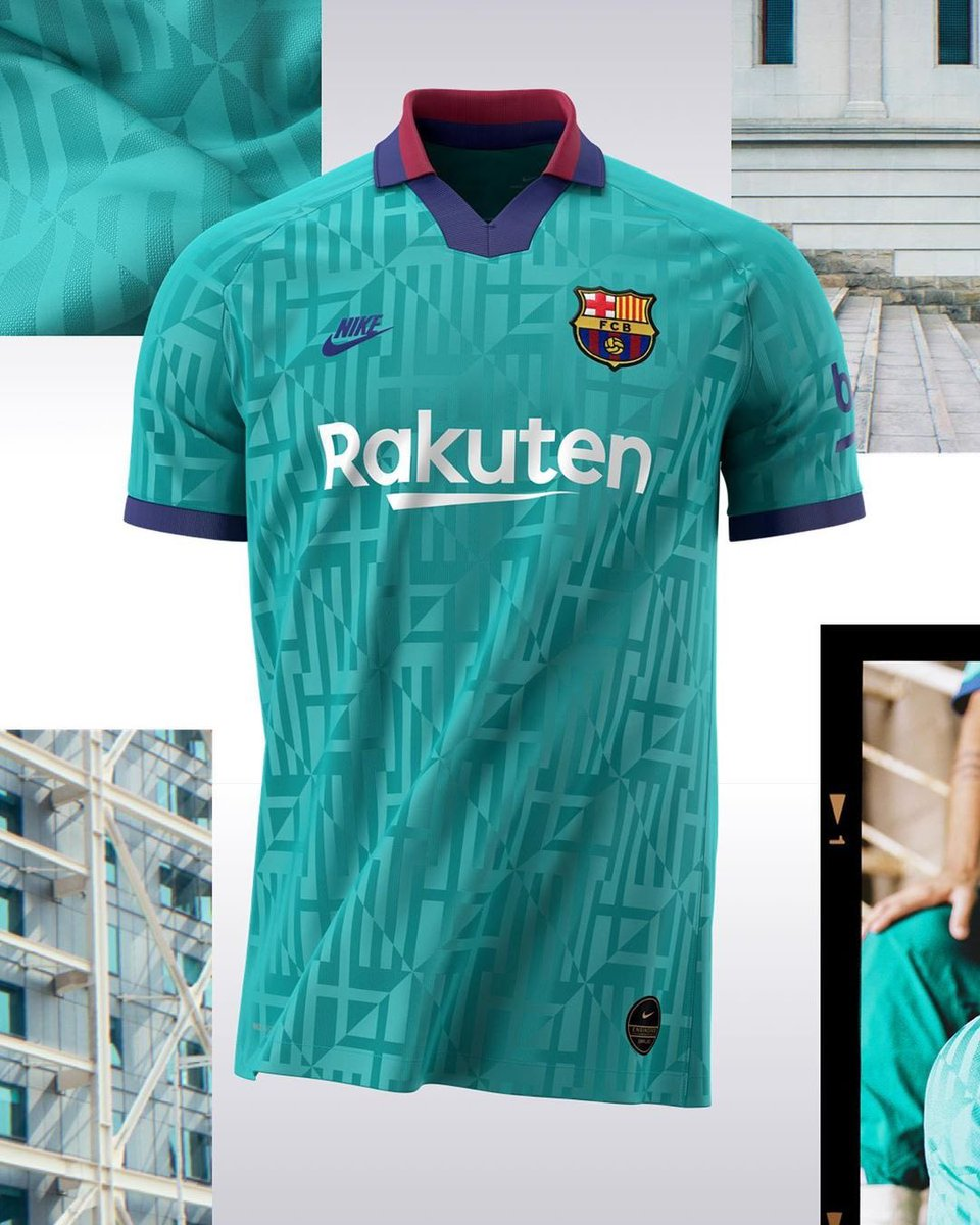 Green Barca Third Jersey 2019-20