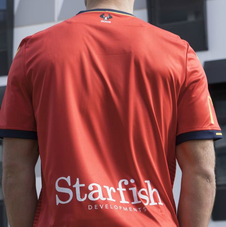 Starfish Developments Back of Adelaide United Kit Sponsor 2019