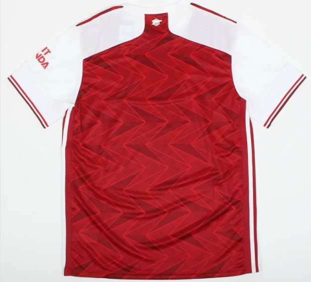 Back of Arsenal Home Shirt 20-21