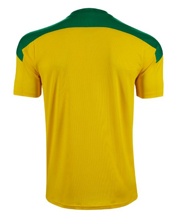 Back of Cliftonville 2020 Away Shirt Yellow