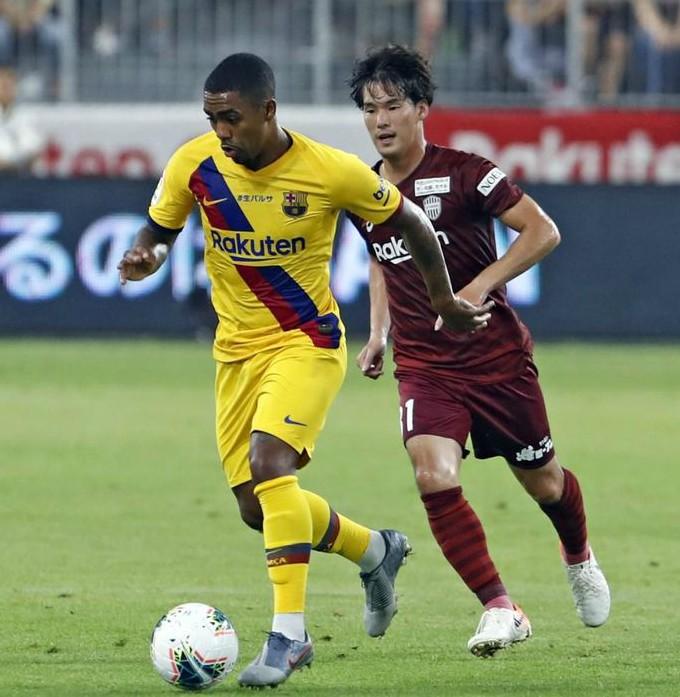 Barcelona Wearing Away Kit vs Vissel Kobe