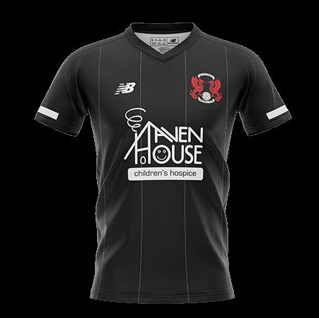 Haven House Black Leyton Orient Away Kit 2020-21 Sponsor