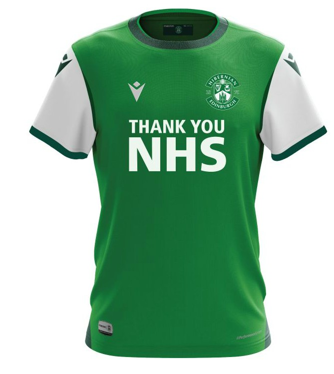 New Hibs Home Strip 20-21 Thank You NHS
