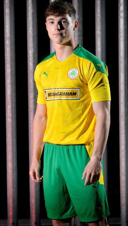 Yellow Cliftonville Shirt 2020