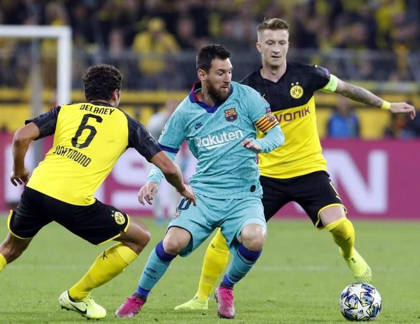 barcelona wearing third kit vs dortmund 2019