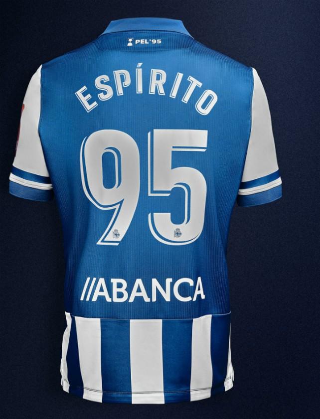 Back of Deportivo La Coruna Shirt 2020 21