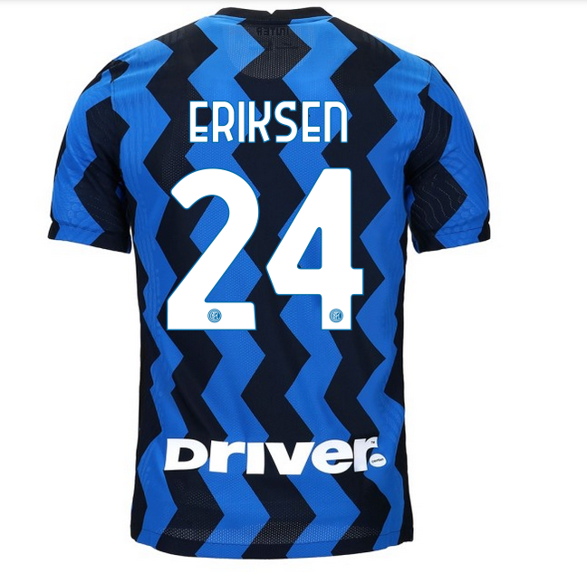 Back of Inter Milan Shirt 2020 2021 Names Number Lettering