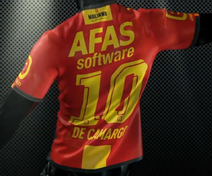 Back of KV Mechelen Jersey 20-21