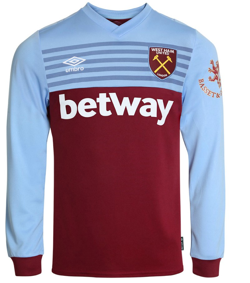 Basset and Gold West Ham Sleeve Sponsor