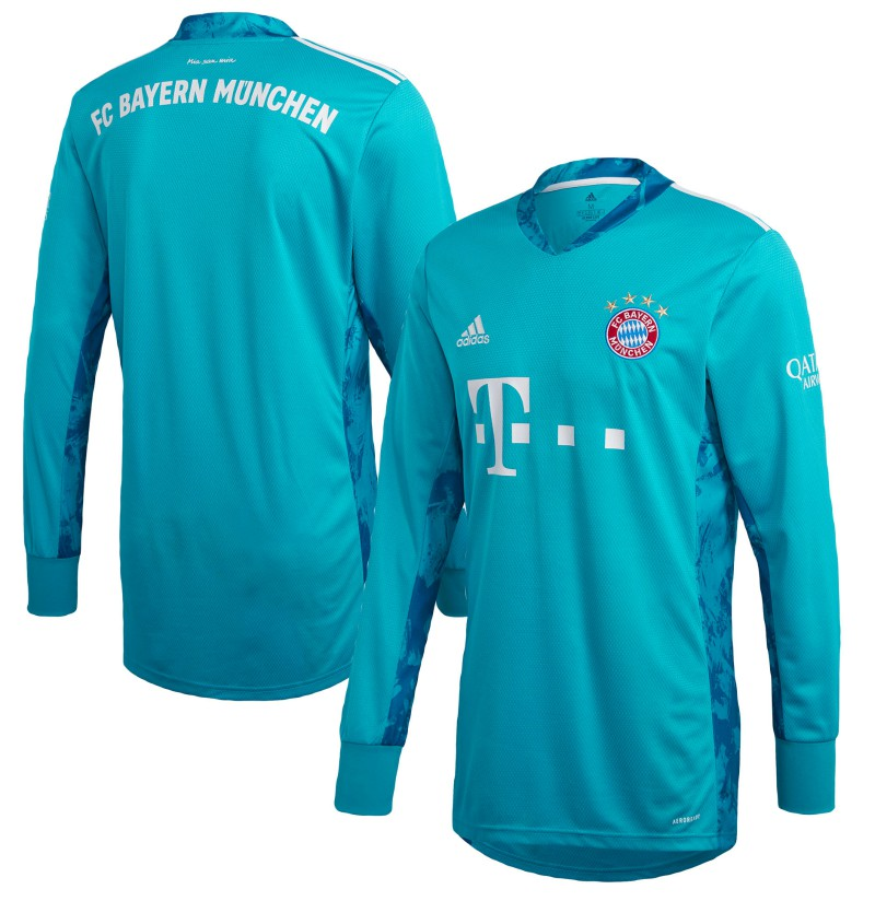 Bayern Munich Blue Goalkeeper Shirt 2020-2021 Neuer