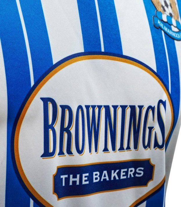 Brownings the Bakers Kilmarnock FC Shirt Sponsor